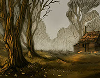 Over the Garden Wall scenery