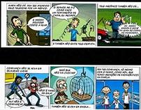 Tiras de quadrinhos - Farmácias Hamburguesa
