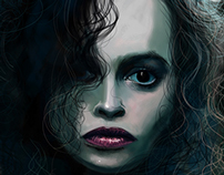 Bellatrix Lestrange caricature