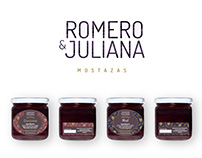 Romero & Juliana - Diseño de marca y packaging