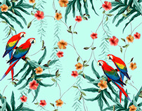 Tropical collage design