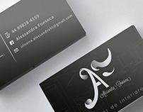 Logotipo Alessandra Fonseca, design de interiores.