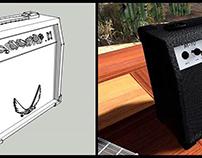 Modelado 3D y Renderización de Amlificador Dean