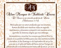 Diseño Interno Invitación Matrimonial
