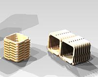 L- Cube, Exhibidor de Ropa / Clothe Display