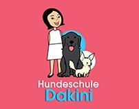 """Logo Design """"Hunderschule Dakini"""""""
