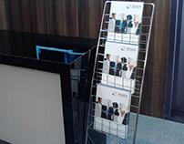 Folder da empresa Zoox para evento da Samsung