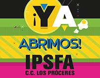 Pendones Apertura Cinex IPSFA C.C. Los Próceres - CINEX