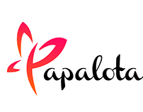 Papalota, logo brand design.