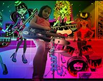 Aniversario tema Monster High