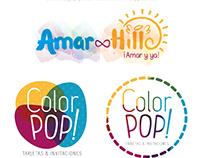 Logotipos creados para distintos clientes y personales.