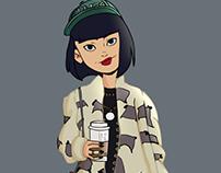 Harajuku Girl - Ilustration 2017