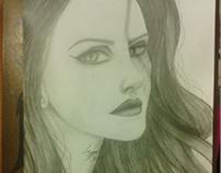 Lana Del Rey - Free-Hand Drawing