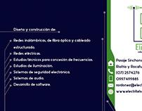 Diseño de Tarjeta de Presentación Reverso ElectriTel
