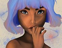 ilustração - Azul é a cor mais quente