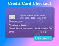 Tela de pagamento com cartão de credito