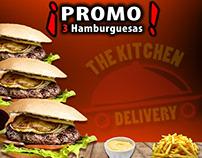 Promo para una hamburguesería