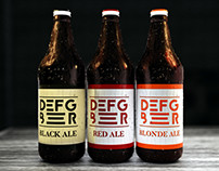 DEFG BEER / Pckaging Design / CGI