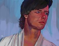 Luke Skywalker painting