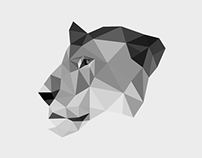 Female Lion // Low Poly Art
