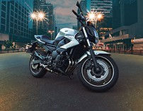 Retouching - Moto Xj6  (estudo)
