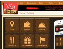 Viva el Menu - Web App