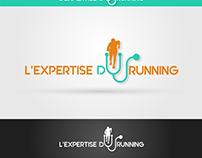 Logo for doctor and coach of runners