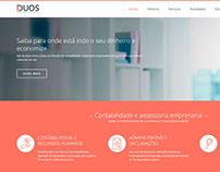 Redesign website Duos Contabilidade