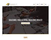 Diseño de página web para la agencia Soluciones VD
