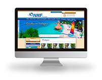 Site da empresa NHF Turismo