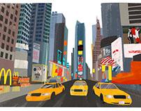 Manhattan Illustrated route