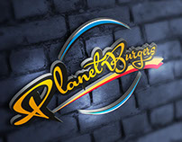logo planet burgers