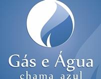Logo - Gás e Água Chama Azul