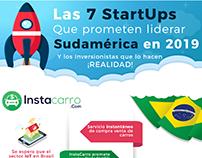 Infografia, 7 Startups lideres en Sudamérica 2019