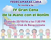 "Identidad Visual del Evento ""IV Cena Honim"""