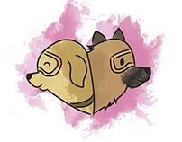 Ilustración perros rescatistas SISMO MÉXICO