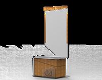 Mobiliario expositivo para el Colegio de Arquitectos