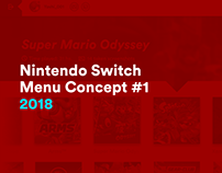 New Nintendo Switch Menu Concept #1 (2018)