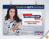 UNISAL - Campanha Vestibular 2018