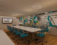 3D y Render de Proyecto de Oficinas.