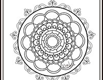 Mandala in a vector format (Illustrator) Desing by Elsa