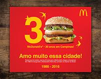 Design / Jogo Americano Comemorativo / McDonald's®