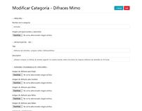 CRUD Gestión de categorías - Disfraces Mimo