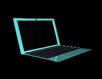 Modelado de laptop maya 3D