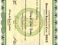 Diploma Curso de Letra.