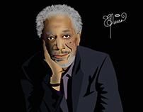 Morgan Freeman (ilustracion de personajes)
