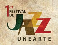 Identidad | Afiche | Programa | 1er Fest. Jazz UNEARTE