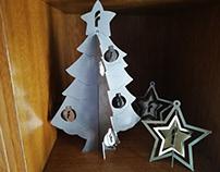 Corte laser arbol y estrella de navidad