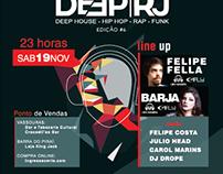 Criação de Banner, Cartaz e Panfleto para festa Deep RJ