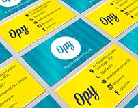 Cartão de visita OPY